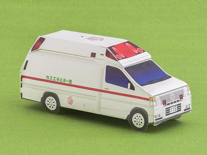 ペーパークラフト 救急車の例
