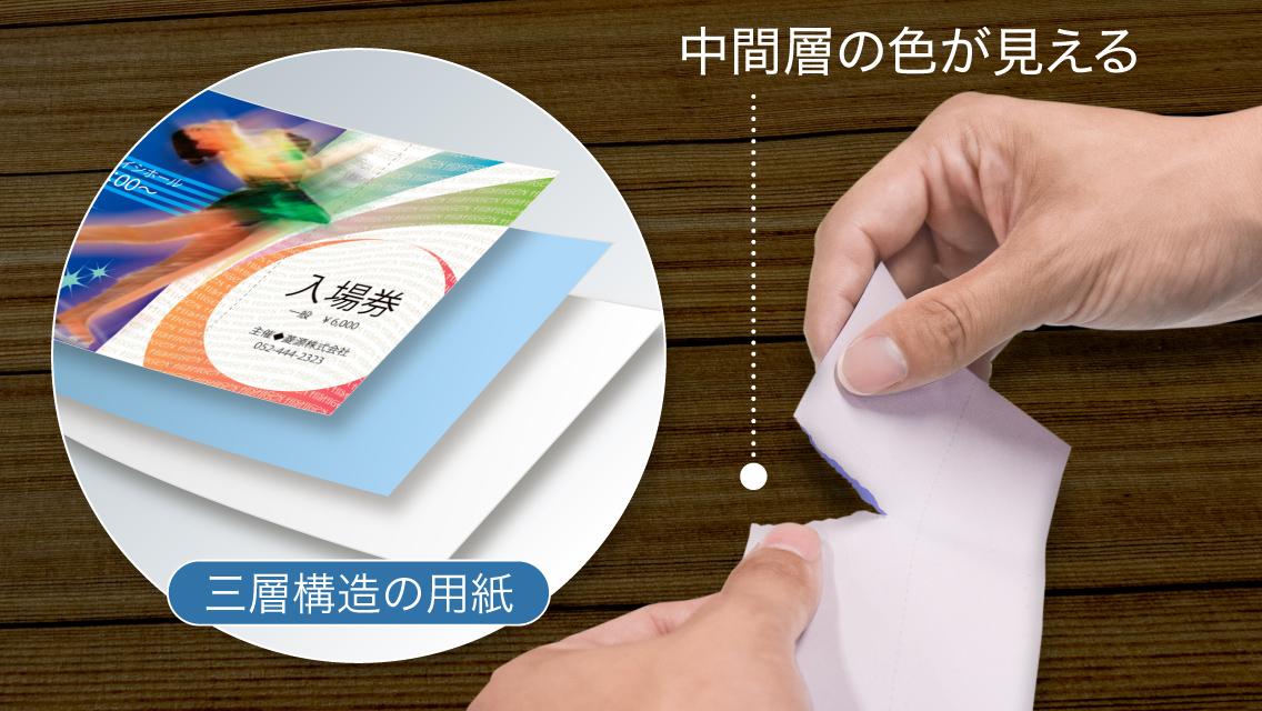 偽造防止専用の紙